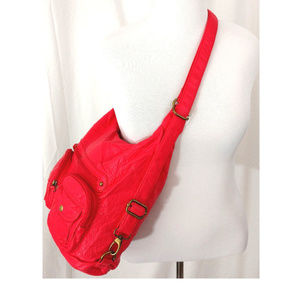 Ampere Creations Bags - Backpack Handbag Crossbody Coral Vegan Leather